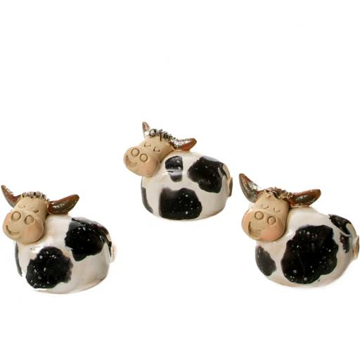 Ceramic Mini Cute Diary Cow Figurine | Gift Boxed