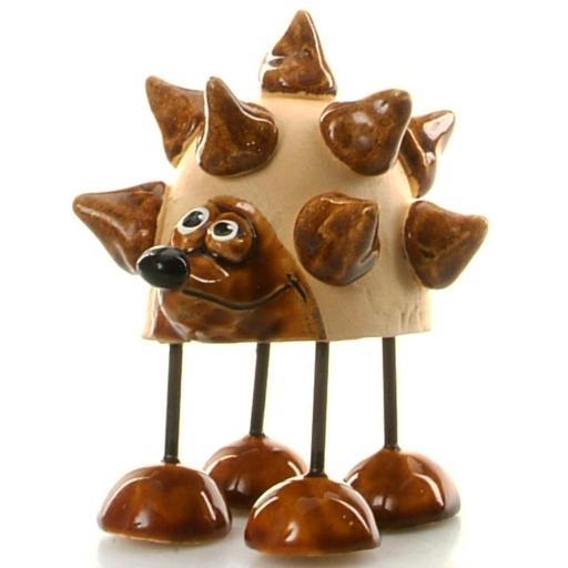 Wire Legs Ceramic Hedgehog | Brown