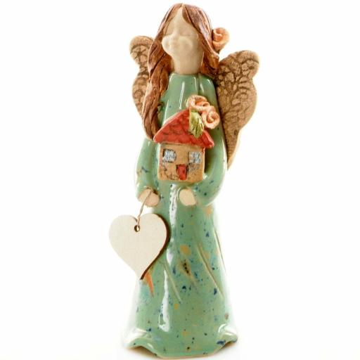 Guardian Angel Figurine with a Sentiment Card | Home Sweet Home