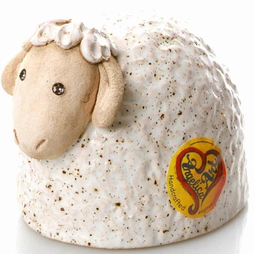 Ceramic Sheep Ornament | White