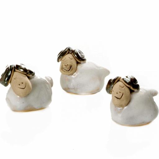 Ceramic Mini Cute Ram Figurine | Gift Boxed