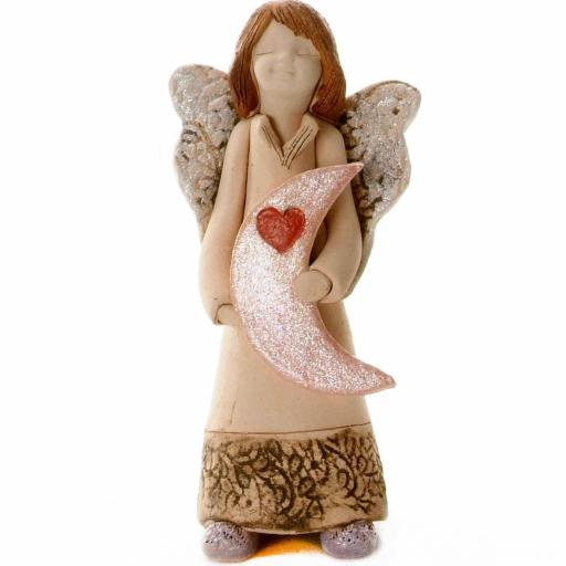Guardian Angel Figurine with a Sentiment Card | I Love You to the Moon and Back | Set of 3 Asst Col