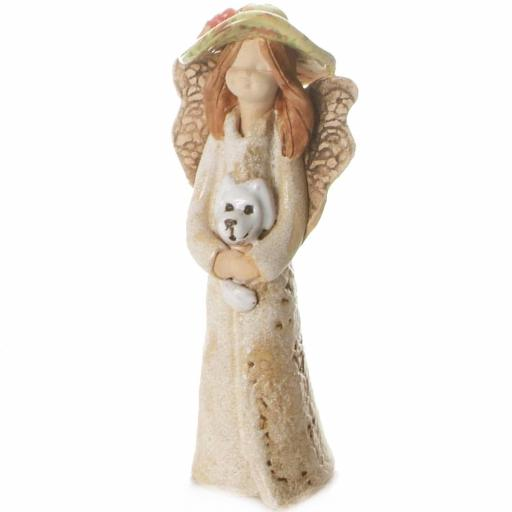 Guardian Angel Figurine with a Sentiment Card | A Dog makes a House a Home