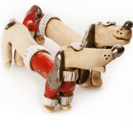 Mr & Mrs Dash Quirky Dachshunds Wedding Gift | Red