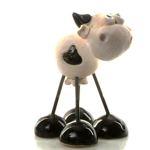 Wire Legs Ceramic Lowland Cow | Black
