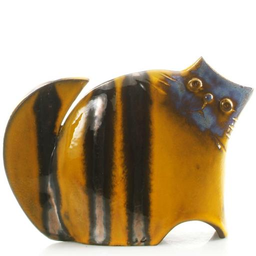 Stylish Ceramic Cat | Mustard | 3 Sizes | Candid Range