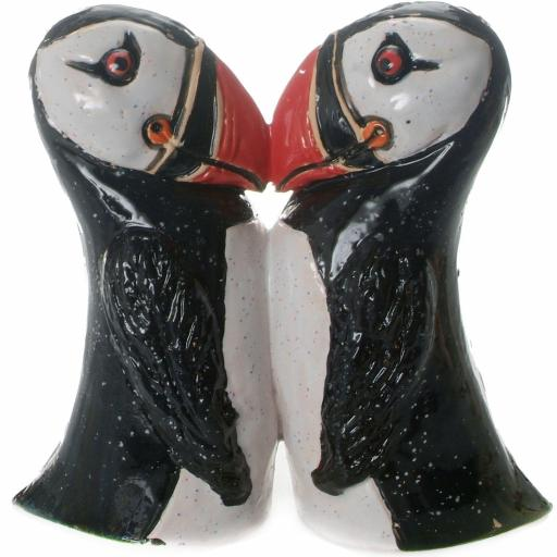 Ceramic Kissing Puffins Ornament