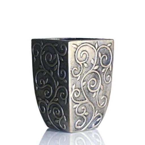 Gold Ceramic Wide Vase or a Plant Pot Medium