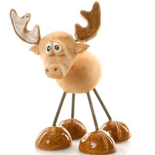 Wire Legs Ceramic Stag | Brown