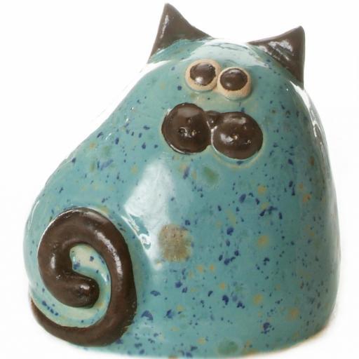 Ceramic Chubby Cat Ornament | Mint