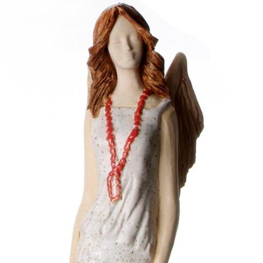 Floor Standing Ceramic Angel Statue | Teal