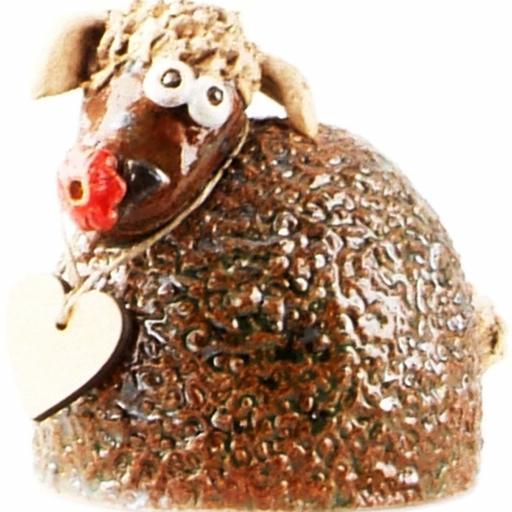 Ceramic Sheep Ornament | Brown