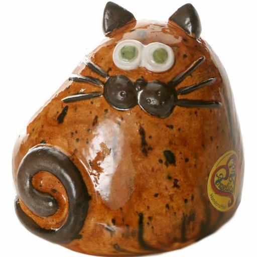 Ceramic Chubby Cat Ornament | Walnut