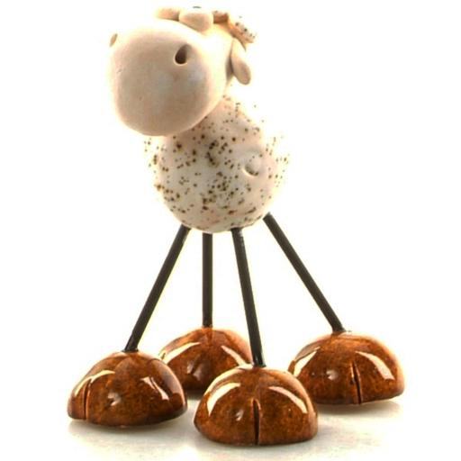 Wire Legs Ceramic Sheep | White