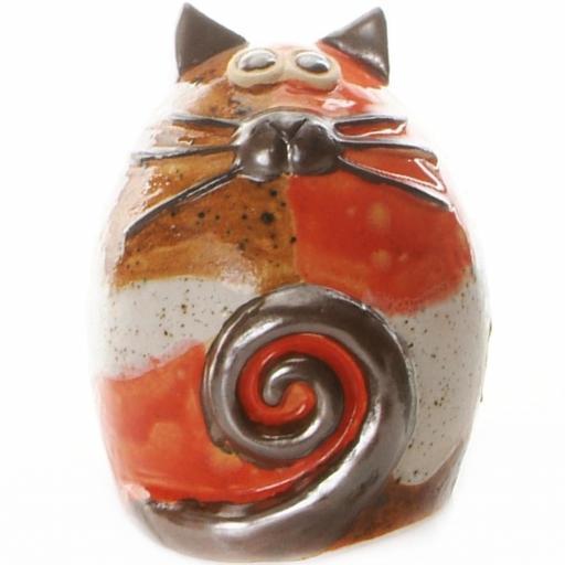 Ceramic Fat Cat Money Bank | Patches