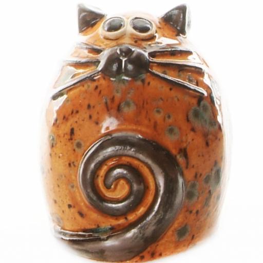 Ceramic Fat Cat Money Bank | Ginger