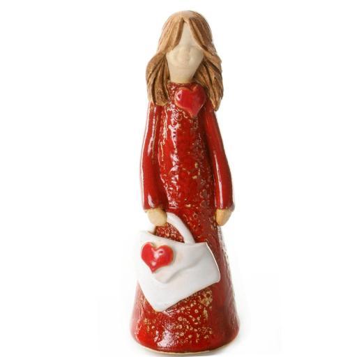 Handbag Holding Ceramic Statuette   Fendi Girl