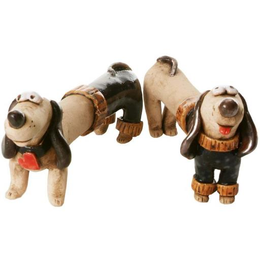 Mr & Mrs Dash Quirky Dachshunds Wedding Gift | Black