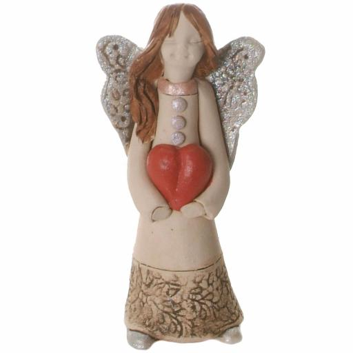 Guardian Angel Figurine with a Sentiment Card | I love you from the Bottom of my Heart | Set of 3 Asst Col