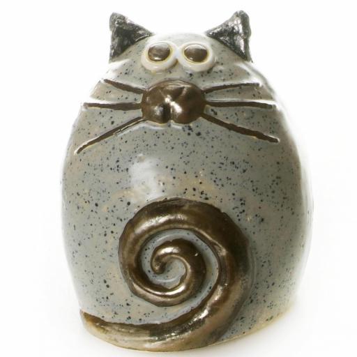 Ceramic Fat Cat Ornament   12 Colours
