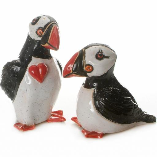 Ceramic Mr & Mrs Loving Puffins Ceramic | Set of 2 | V1
