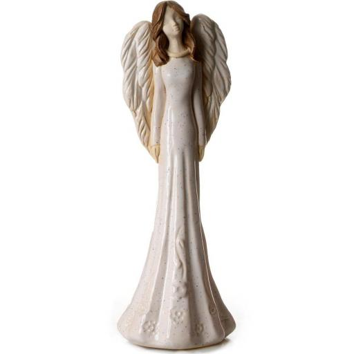 Large Ceramic Angel Figurine in White