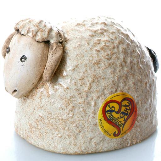 Ceramic Sheep Ornament | Taupe