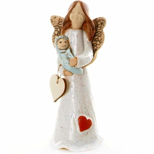 Guardian Angel Figurine with a Sentiment Card | Newborns Angel | Set of 3 Asst Col