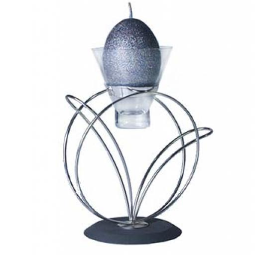 Stainless Steel Metal Candle Holder with 1 Glass Cup | Madrid | 6 Colours