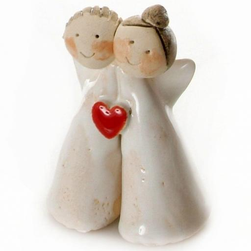Couple in Love | Angels with Red Heart | Gift Boxed