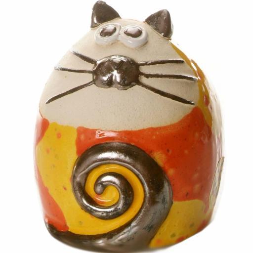 Tabby Fat Cat Figurine | Ethnic Compilation