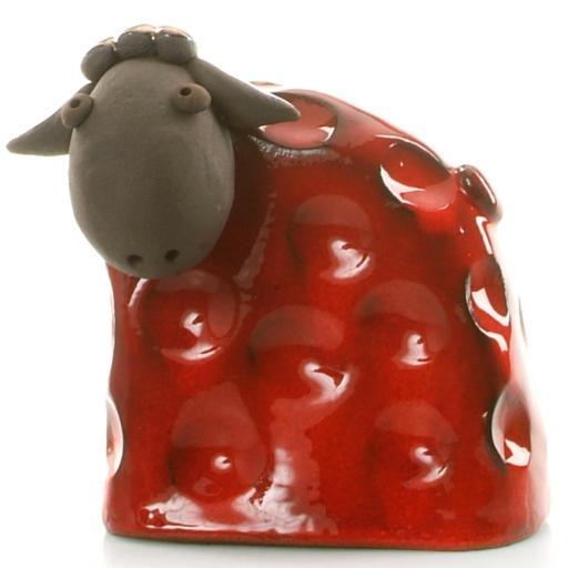 Stylish Ceramic Sheep | Red | Candid Range