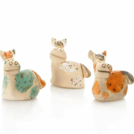 Ceramic Mini Cute Pony Figurine | Gift Boxed | Supplied At Random
