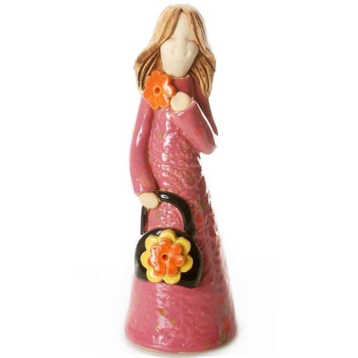 Handbag Holding Ceramic Statuette   Gucci Girl