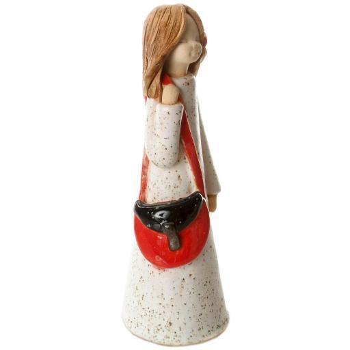 Handbag Holding Ceramic Statuette   Prada Girl