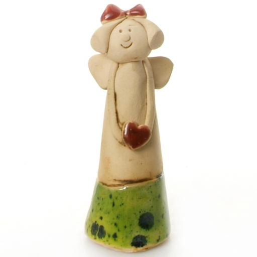 Ceramic Angel | Red Heart | May all Your Dreams Come True