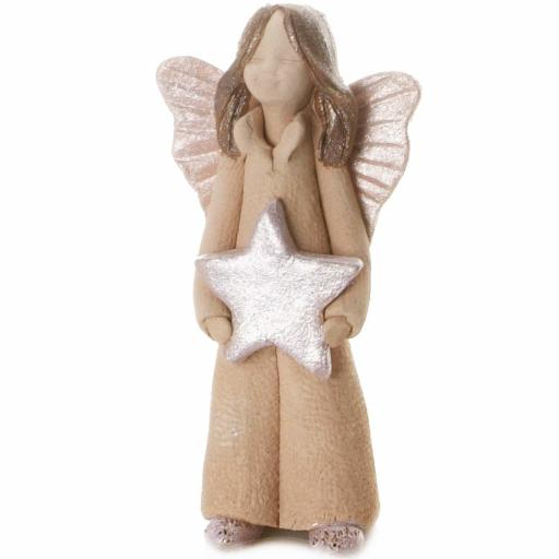 Guardian Angel Figurine with a Sentiment Card | Angel of Friendship | Set of 3 Asst Col