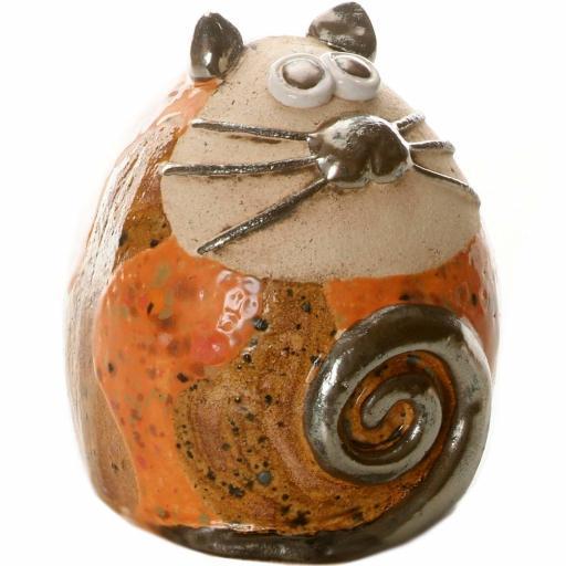Ceramic Tabby Fat Cat Figurine | Urban Compilation