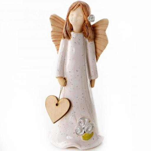 Guardian Angel Figurine with a Sentiment Card | Thank You