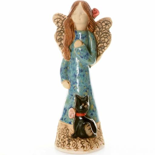 Guardian Angel Figurine with a Sentiment Card | Angel of Good Fortune