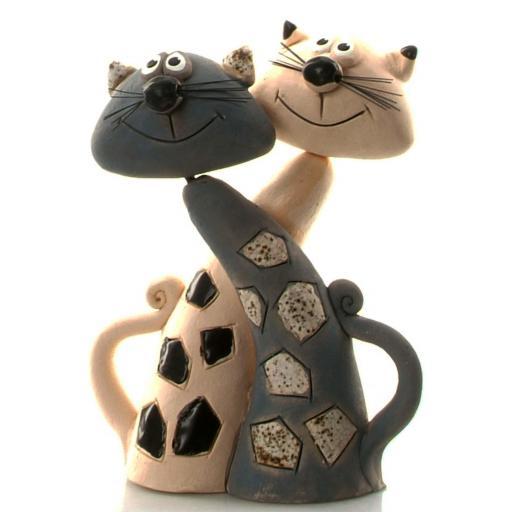 Ceramic Figurine Pair of Cats | Good Mates