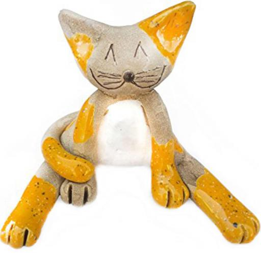 Ceramic Lazy Cat Figurine | Ginger