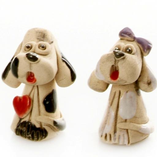 Mini Ceramic Mr & Mrs Cute Dogs Figurines | Gift Boxed | Randomly Selected