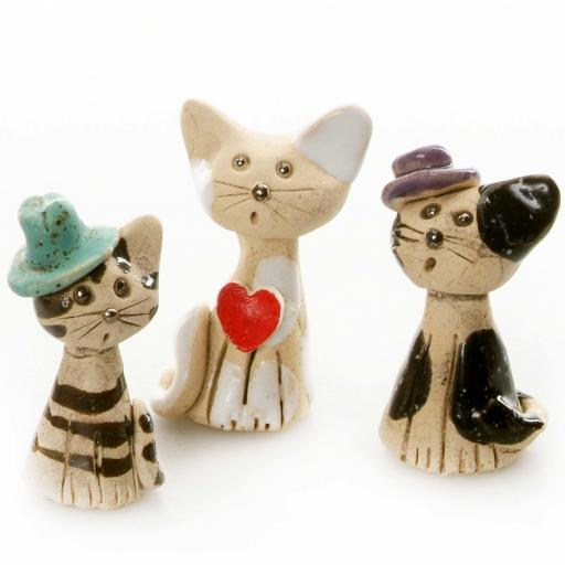 Ceramic Mini Cute Cats | Gift Boxed | Supplied at Random