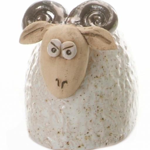 Ceramic Ram Figurine | White