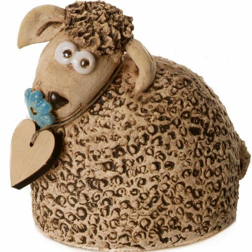 Ceramic Sheep Ornament | Natural