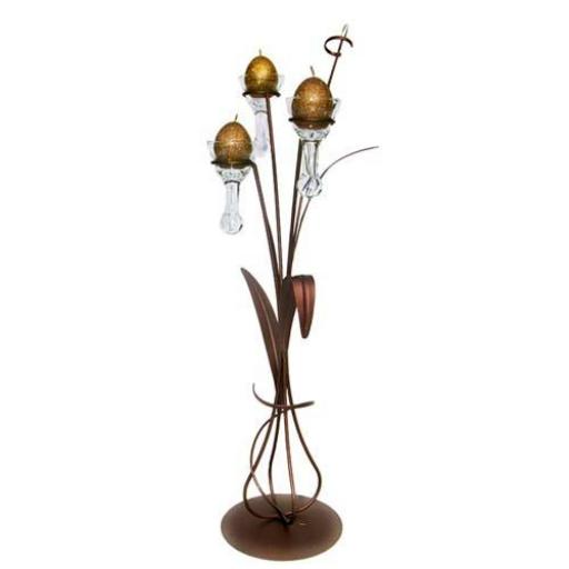 Large Dining Table Centerpiece with 3 Glass Droplets | Daisy | Matt Brown