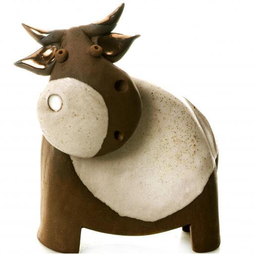 Stylish Ceramic Cow | White | Candid Range