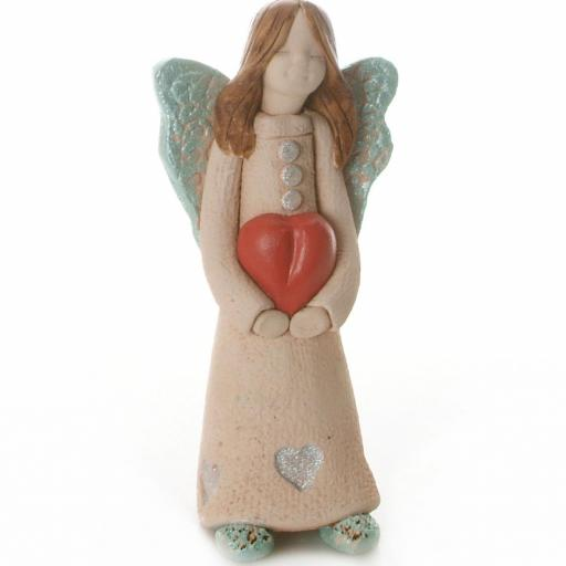 Guardian Angel Figurine with a Sentiment Card | Angel of Love | Set of 3 Asst Col