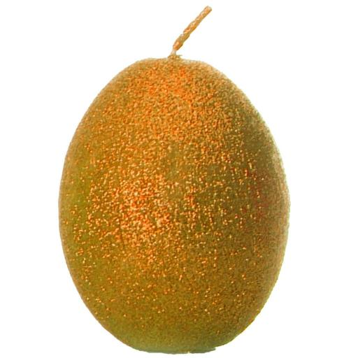 Egg Shaped Candle in Sparkly Terracotta